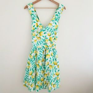 NWT Elle Tossed Lemon Dress Fit and Flare Size 14